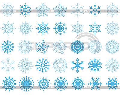 Płatki śniegu   Klipart wektorowy  ID 3088174