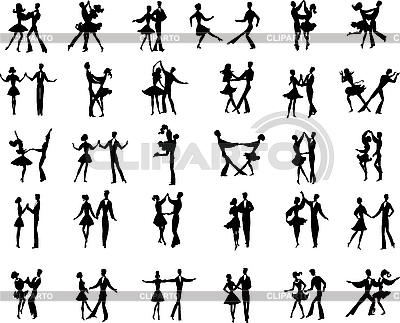 Ballroom dancers | Stock Vector Graphics |ID 3088984
