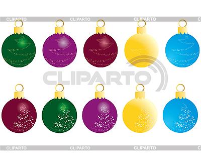 Set of christmas balls   Stock Vector Graphics  ID 3089030
