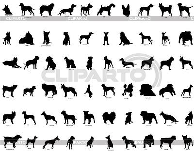 狗剪影 | 向量插图 |ID 3089096