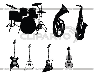 Set of musical instruments   Stock Vector Graphics  ID 3089118