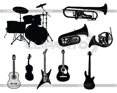Set of musical instruments | Stock Vector Graphics |ID 3089120