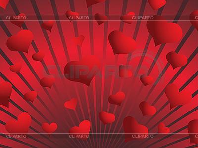 Background czerwonych serc | Klipart wektorowy |ID 3089170