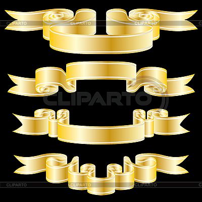 Golden ribbons | Stock Vector Graphics |ID 3089865
