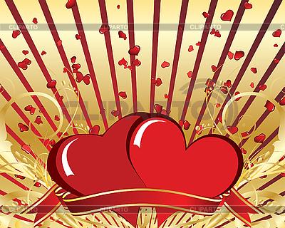 마음 발렌타인 카드 | 벡터 클립 아트 |ID 3101002
