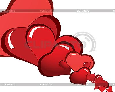 Background czerwonych serc | Klipart wektorowy |ID 3101012