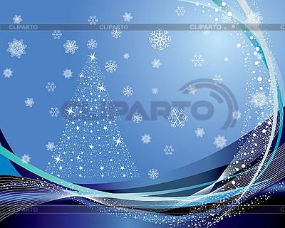 Weihnachtskarte mit Tanne | Stock Vektorgrafik |ID 3101036