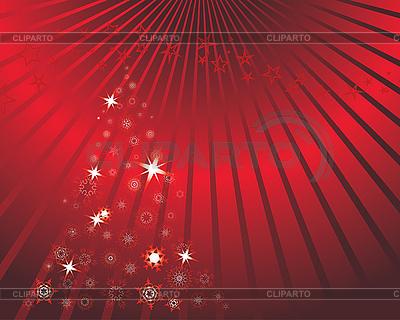 전나무 나무와 빨간 크리스마스 카드 | 벡터 클립 아트 |ID 3101042