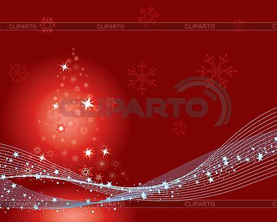 전나무 나무와 빨간 크리스마스 카드   벡터 클립 아트  ID 3101046