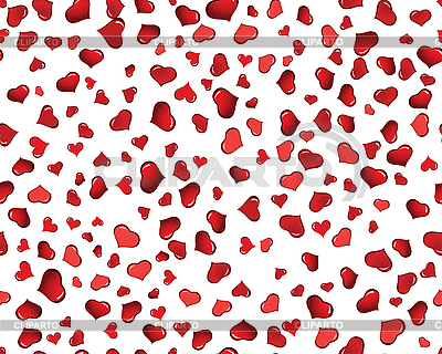 Seamless background of red hearts | Stock Vector Graphics |ID 3101198