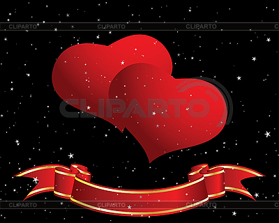 Valentine's card with hearts | Stock Vector Graphics |ID 3101204
