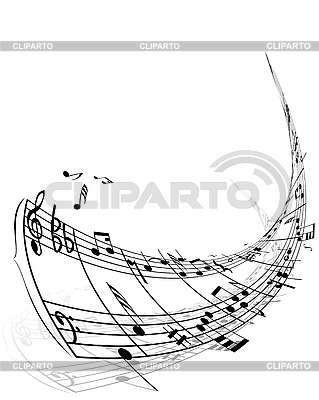 Background of music notes | Stock Vector Graphics |ID 3103973