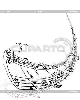 Hintergrund von Musiknoten | Stock Vektorgrafik |ID 3103973