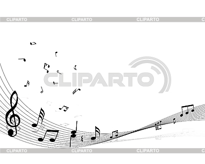 Background of music notes | Stock Vector Graphics |ID 3103975