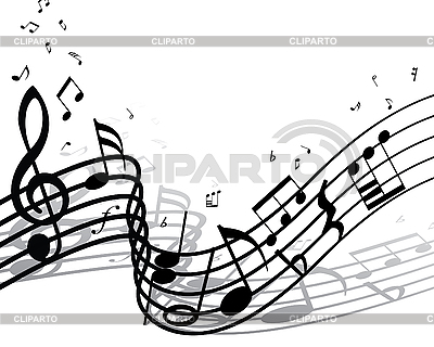 Background of music notes | Stock Vector Graphics |ID 3103977