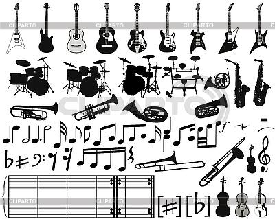Elementy muzyczne | Klipart wektorowy |ID 3108069
