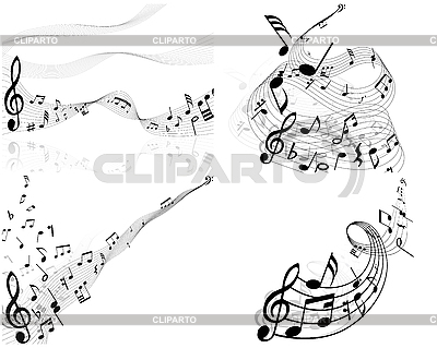 Set of designs with music notes | Stock Vector Graphics |ID 3119639