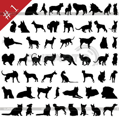 Pets silhouettes | Stock Vector Graphics |ID 3127497