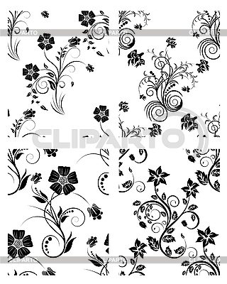 Set of flowers backgrounds   Stock Vector Graphics  ID 3152119