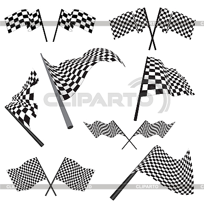Set of racing flags | Stock Vector Graphics |ID 3157471