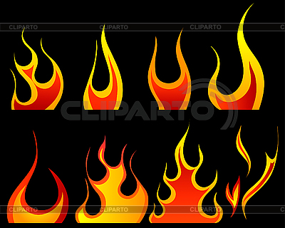 Fire patterns set | Stock Vector Graphics |ID 3157489