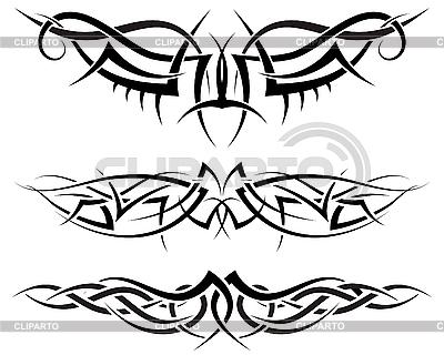 Symmetrische Tattoos | Stock Vektorgrafik |ID 3157573