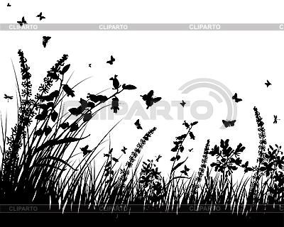 草甸剪影 | 向量插图 |ID 3158193