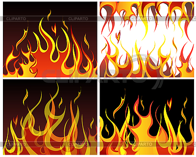 Fire backgrounds set | Stock Vector Graphics |ID 3158423