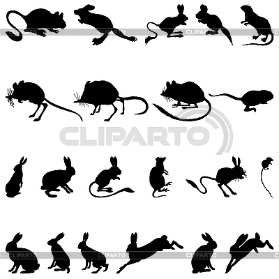 Rodents silhouettes | Stock Vector Graphics |ID 3177704