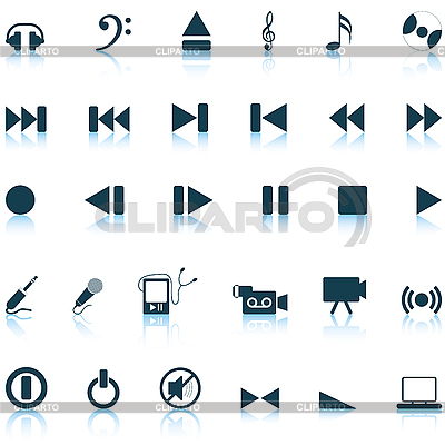 Musical zestaw ikon | Klipart wektorowy |ID 3177730
