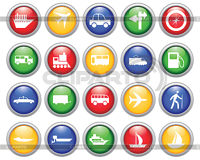 Transportation icons set | Stock Vector Graphics |ID 3178078