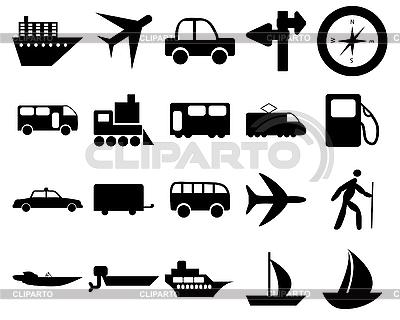 Transportation icons set | Stock Vector Graphics |ID 3178086