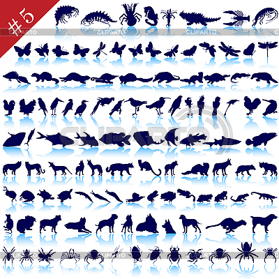 Set of animal silhouettes | Stock Vector Graphics |ID 3186386