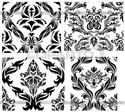 Seamless damask patterns set | Klipart wektorowy |ID 3187027