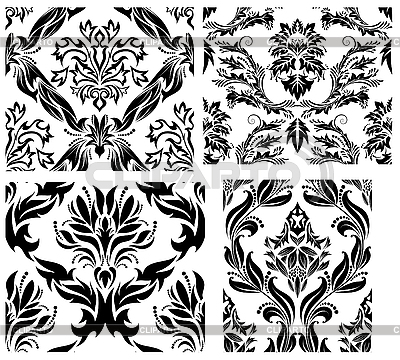 Seamless damask patterns set | Stock Vector Graphics |ID 3187029