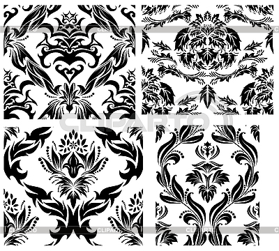 Seamless damask patterns set | Stock Vector Graphics |ID 3187049