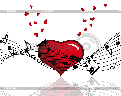 Heart and music notes | Stock Vector Graphics |ID 3193136