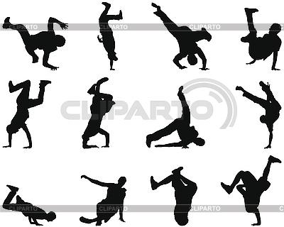 Break-dance silhouette set   Stock Vector Graphics  ID 3193912