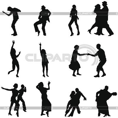 Sylwetka taniec zestaw | Klipart wektorowy |ID 3194136