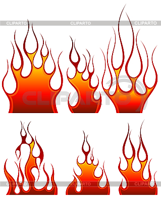 Fire icon set | Stock Vector Graphics |ID 3194638