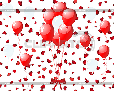 Balloons on hearts | Stock Vector Graphics |ID 3195058