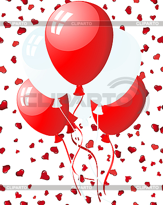 Balloons on hearts | Stock Vector Graphics |ID 3195064