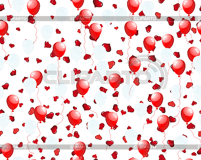 Balloons on hearts | Stock Vector Graphics |ID 3195066