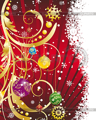 Christmas (New Year) card | Stock Vector Graphics |ID 3195196
