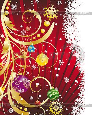 Navidad (Año Nuevo) Tarjeta | Ilustración vectorial de stock |ID 3195196