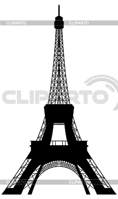 Eiffel tower silhouette | Stock Vector Graphics |ID 3213256