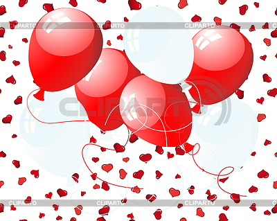 Balloons on hearts   Stock Vector Graphics  ID 3213415