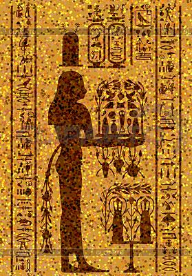 Ägyptischen Hieroglyphen und Fresko | Stock Vektorgrafik |ID 3224704