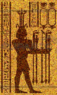 Ägyptischen Hieroglyphen und Fresko | Stock Vektorgrafik |ID 3224706
