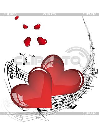 음악 노트와 발렌타인 하트 | 벡터 클립 아트 |ID 3224873